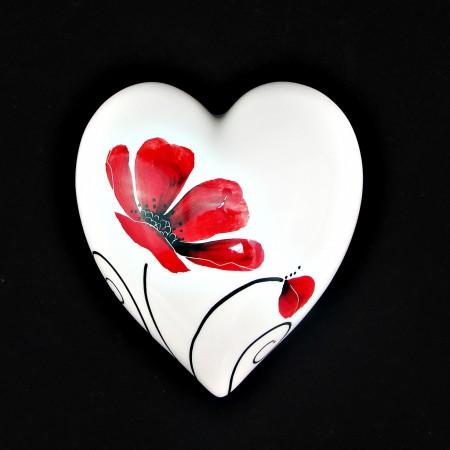 Poppy -Medium Wall Heart