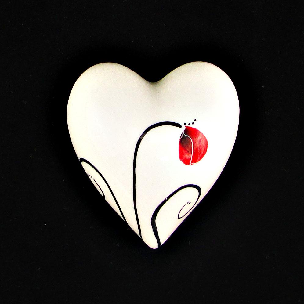 Keriblue Ceramics Small Wall Heart -Poppy   Keriblue Ceramics