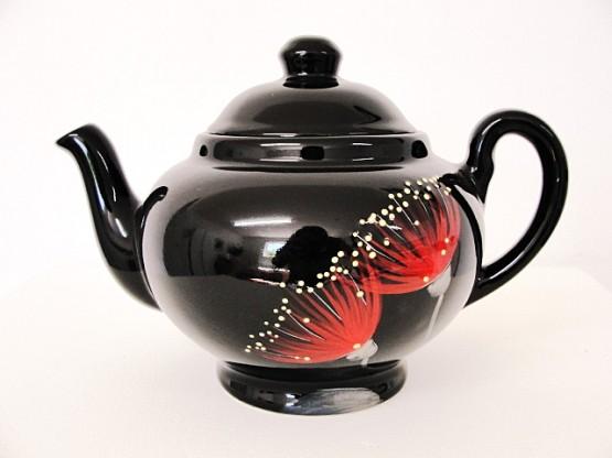 keriblue-ceramics-2-cup-teapot-pohutukawa-black