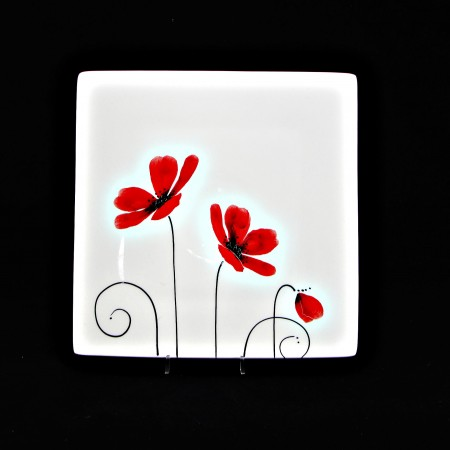 Poppy-Med Sushi Plate & Poppy Tableware | Product Categories | Keriblue Ceramics